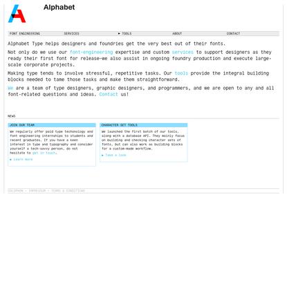 Alphabet Type