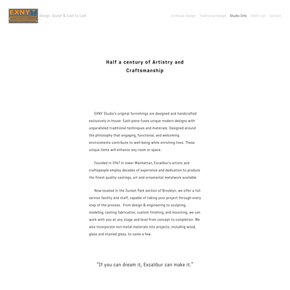 Studio Info - - EXCALIBUR BRONZE FINE ART FOUNDRY