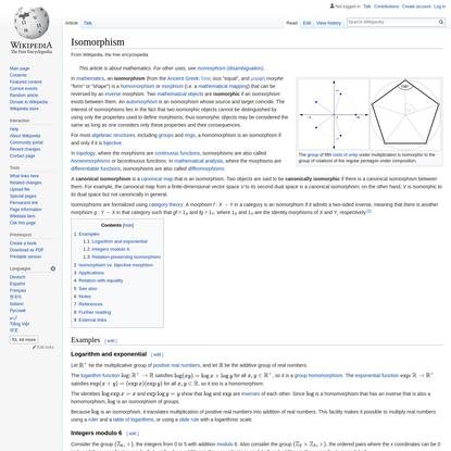 Isomorphism - Wikipedia