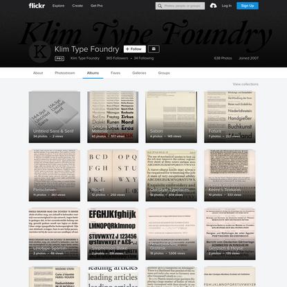 Klim Type Foundry's albums | Flickr