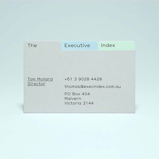 Awesome execution for The Executive Index business cards. 📁 Designed by Melbourne based designed studio @selftitled_design -...