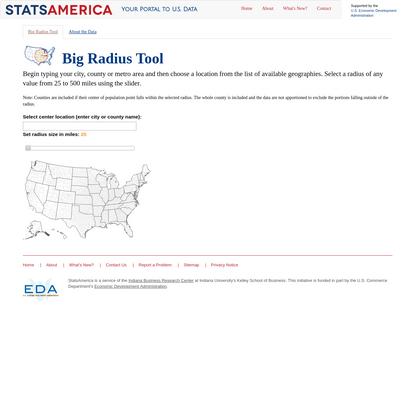 Big Radius Tool: StatsAmerica
