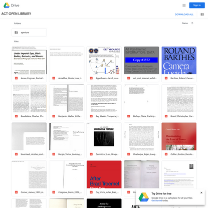ACT OPEN LIBRARY - Google Drive