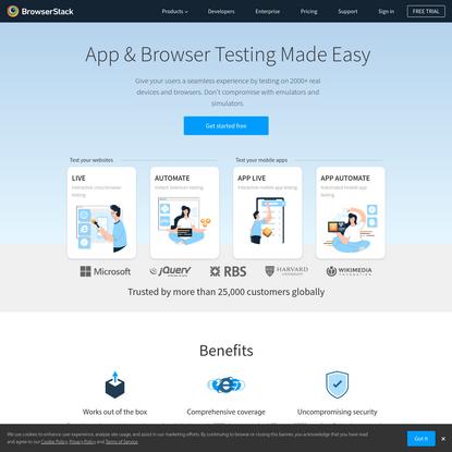Most Reliable Mobile App & Browser Testing Platform | BrowserStack