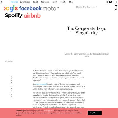 The Corporate Logo Singularity   Rachel Hawley