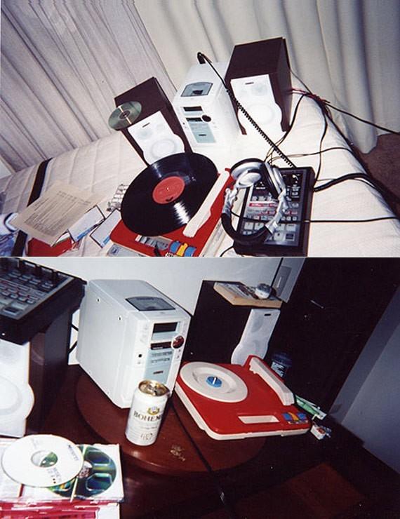 Madlib's studio setup in Brazil. (Credit: Eric Coleman)