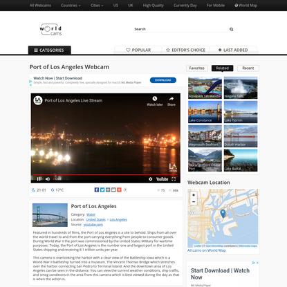 Port of Los Angeles Live Webcam - United States - World Cams