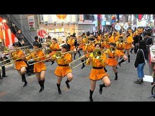 京都橘高校吹奏楽部 大手筋商店街パレード Kyoto Tachibana SHS Band - YouTube