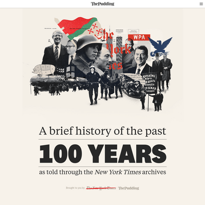 A brief history of the past 100 years, as told through the New York Times archives