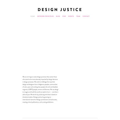design + social justice