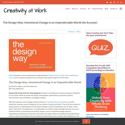 An Excerpt from The Design Way: Intentional Change in an Unpredictable World