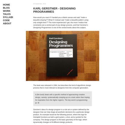 Rune Madsen - Karl Gerstner - Designing Programmes