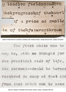 Dwiggins Underwood typewriter draft