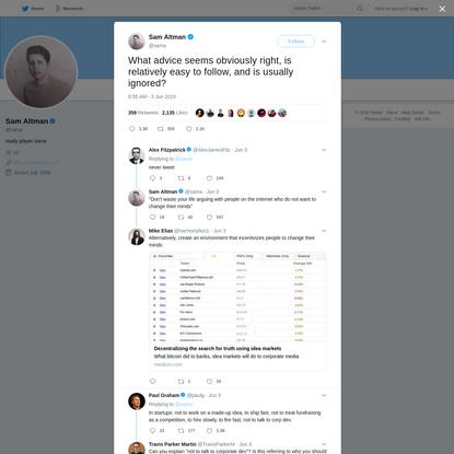 Sam Altman on Twitter