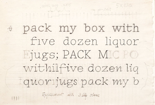 Dwiggins typewriter draft