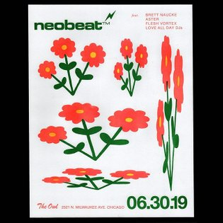 Did the artwork for the latest neobeat flyer. Flowers by me, design by @mrdrewryan