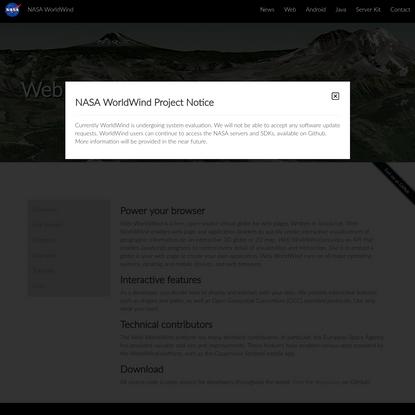 Web WorldWind/NASA WorldWind
