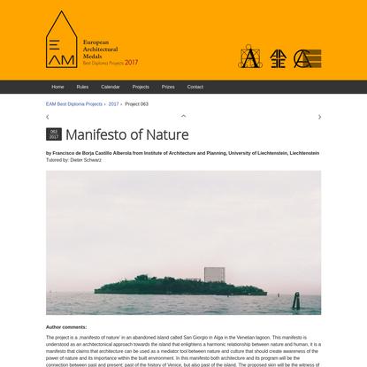 Manifesto of Nature