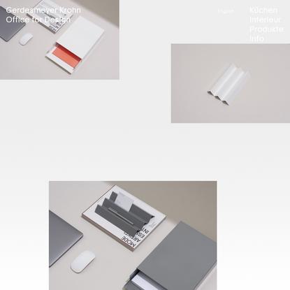 Gerdesmeyer Krohn Office for Design