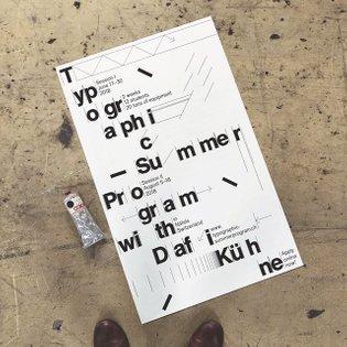 Poster for Typographic Summer Program 2018