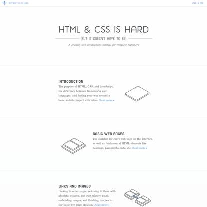 HTML & CSS Is Hard