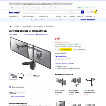 bol.com   Newstar flatscreen bureausteun