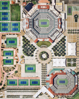 """""""The Indian Wells Tennis Garden is a 29-court complex located on 88 acres (360,000 sq. m) near Palm Springs, California. Its 16,000-capacity """"Stadium 1"""" is the second largest outdoor tennis stadium in the world. Every year, the complex hosts the Indian Wells Masters, also known as the BNP Paribas Open — the best-attended tennis tournament outside of the four Grand Slam tournaments."""""""