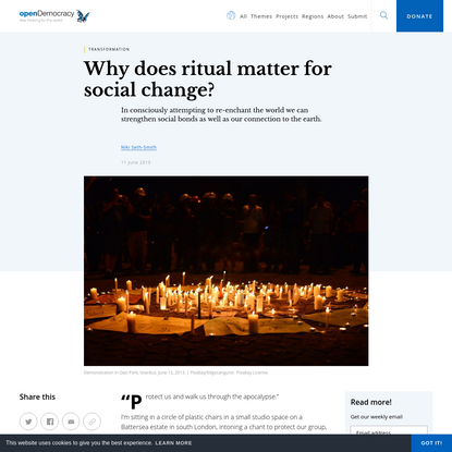 Why does ritual matter for social change?