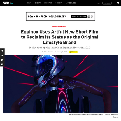 Equinox Uses Artful New Short Film to Reclaim Its Status as the Original Lifestyle Brand