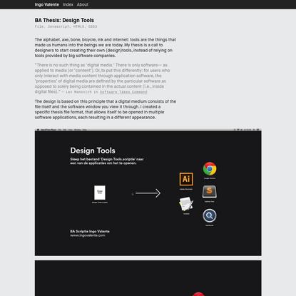 Ingo Valente - BA Thesis: Design Tools