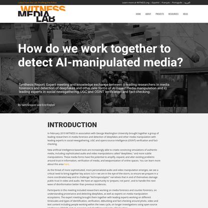 OSINT Digital Forensics - WITNESS Media Lab