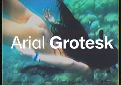 Arial Grotesk by AlfaType Specimen