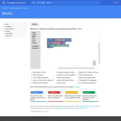 Blockly | Google Developers