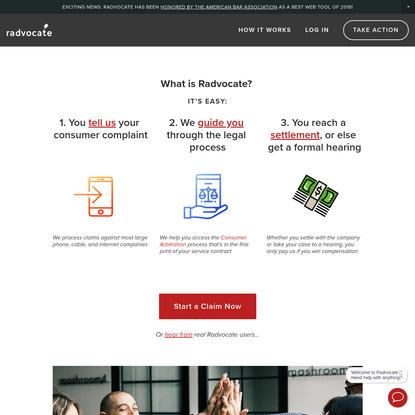 Radvocate - Get cash for your complaint