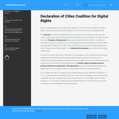 Cities for Digital Rights