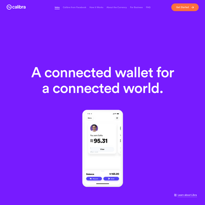 Calibra | Digital Wallet for Libra Cryptocurrency