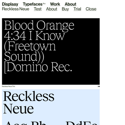 Reckless Neue - Displaay Type Foundry