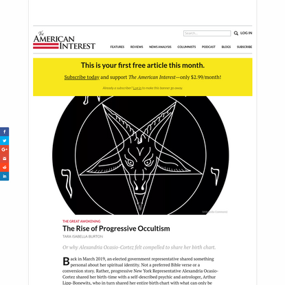 The Rise of Progressive Occultism - The American Interest