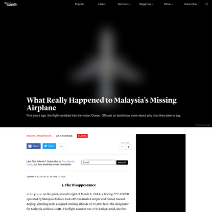 Vanished: How Malaysia Airlines Flight 370 Disappeared