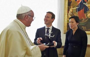 Mark Zuckerberg - Pope Francis - drone