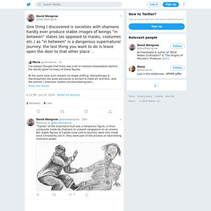 David Wengrow on Twitter