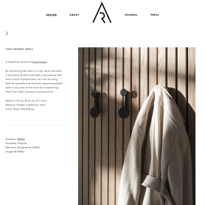 Coat Hanger, Small | AFTEROOM