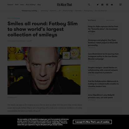 Smiles all round: Fatboy Slim to show world's largest collection of smileys