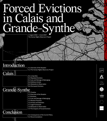 Forced Evictions in Calais and Grande Synthe