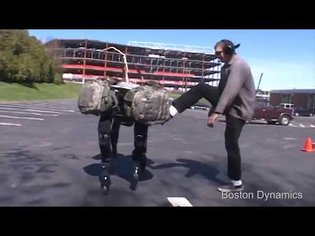 Boston Dynamics robot abuse compilation.