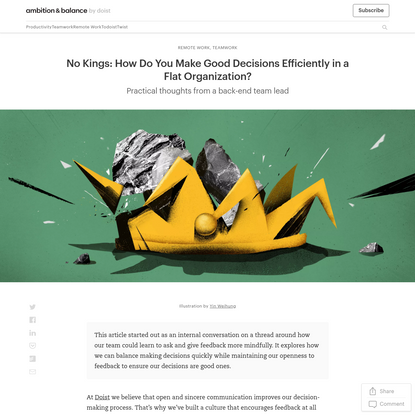 [Internal Memo] Principles for Decision-Making in a Flat Organization