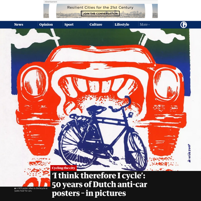 'I think therefore I cycle': 50 years of Dutch anti-car posters - in pictures