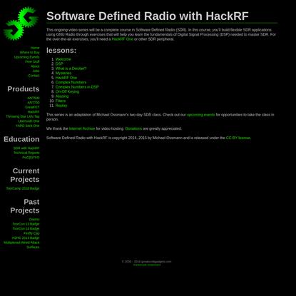 Software Defined Radio with HackRF - Great Scott Gadgets