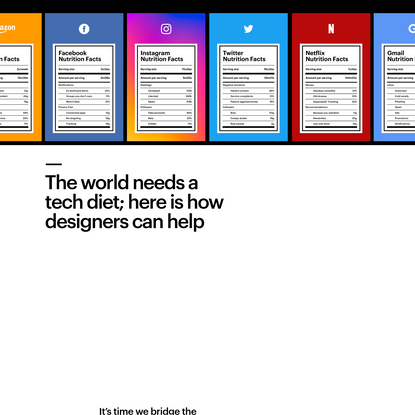 The world needs a tech diet; here is how designers can help