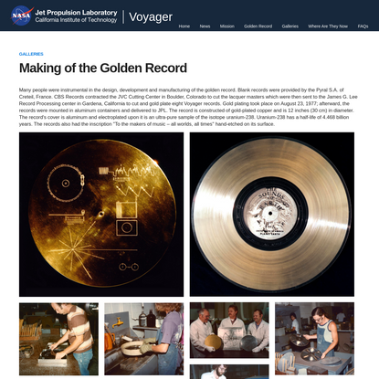 Voyager - Making of the Golden Record